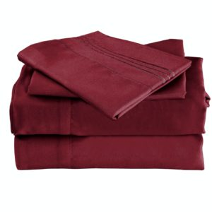Burgundy Cool Bamboo Bed Sheet Set