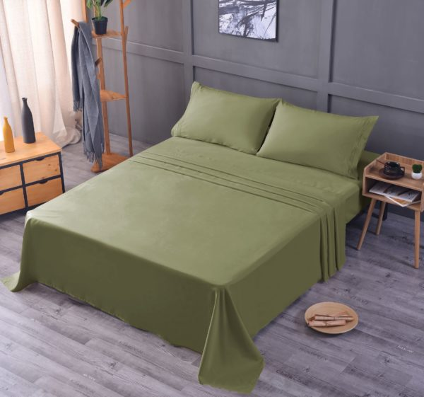 Sage Green Cool Bamboo Bed Sheet Set