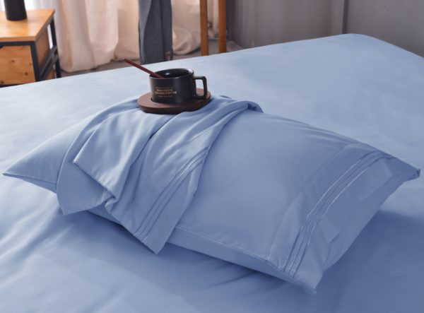 Blue Cool Bamboo Bed Sheet Set