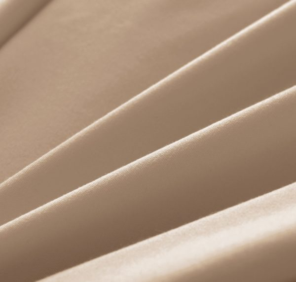 Beige Cool Bamboo Bed Sheet Set