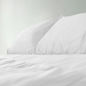 Bamboo bed sheet set photo - white