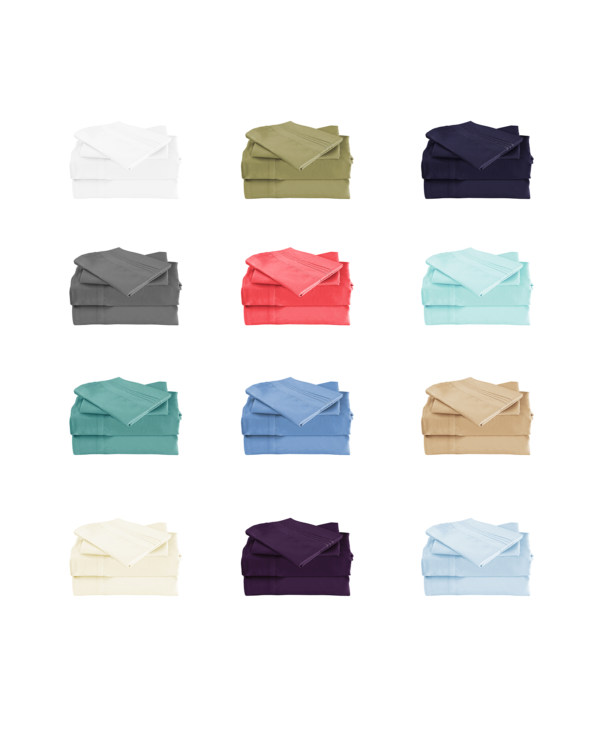 All Colors Cool Bamboo Bed Sheet Set