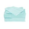 Aqua Color Cool Bamboo Bed Sheet Set