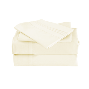Ivory Color Cool Bamboo Bed Sheet Set