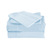 Light Blue Color Cool Bamboo Bed Sheet Set