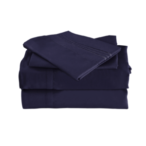 Navy Blue Color Cool Bamboo Bed Sheet Set