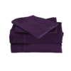 Purple Color Cool Bamboo Bed Sheet Set