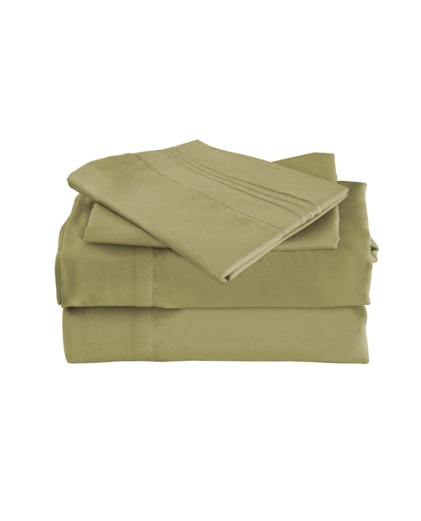 Sage Green Color Cool Bamboo Bed Sheet Set