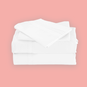 White Color Cool Bamboo Bed Sheet Set