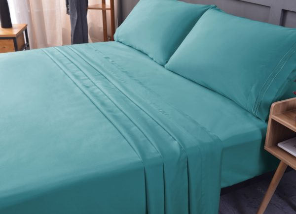 Teal Cool Bamboo Bed Sheet Set