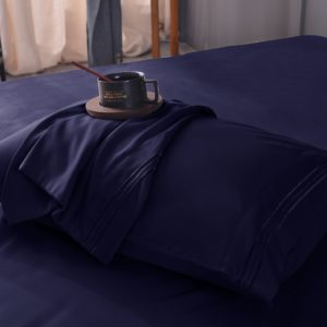 Navy Blue Cool Bamboo Bed Sheet Set