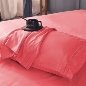 Coral Cool Bamboo Bed Sheet Set