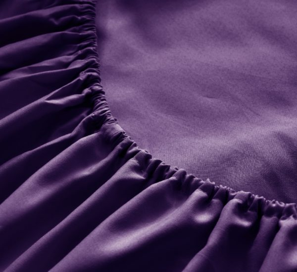 Purple Cool Bamboo Bed Sheet Set
