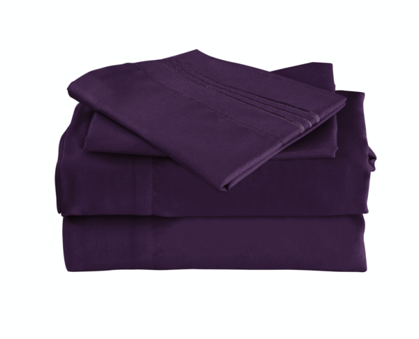 Purple 1 Cool Bamboo Bed Sheet Set