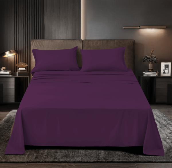 Purple 11 Cool Bamboo Bed Sheet Set