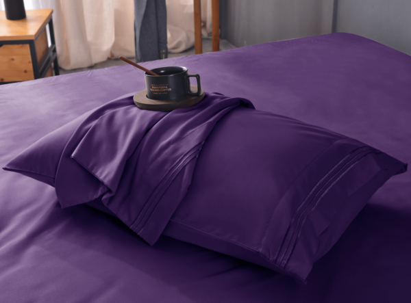 Purple 13 Cool Bamboo Bed Sheet Set