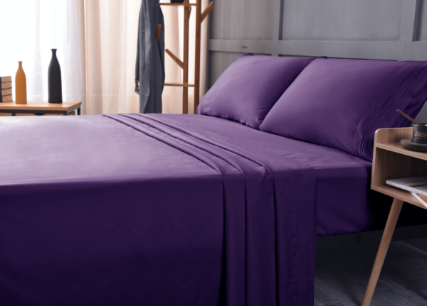 Purple 2 Cool Bamboo Bed Sheet Set