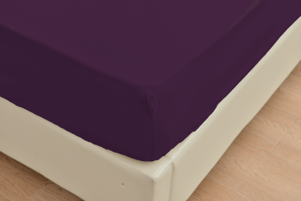 Purple 4 Cool Bamboo Bed Sheet Set