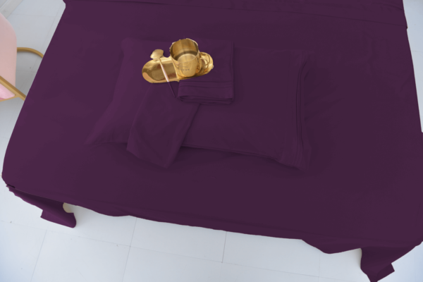 Purple 7 Cool Bamboo Bed Sheet Set