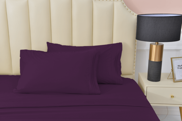 Purple 8 Cool Bamboo Bed Sheet Set