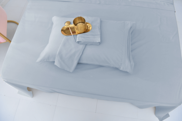 Silver 8 Cool Bamboo Bed Sheet Set